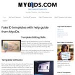 myoids.com Fake ID Website Screenshot