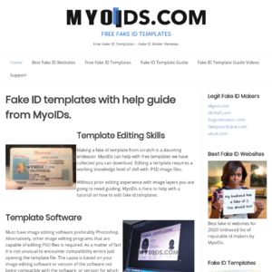 Myoids.com Fake ID Template Website Review