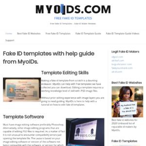 Myoids.com Fake ID Template Website Review