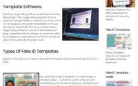 myoids.com Fake ID Template Screenshot